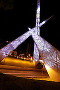 Goiania_GO, Brasil.<br /> <br /> Viaduto Latif Sebba na Praca Latif Sebba em Goiania, Goias.<br /> <br /> Latif Sebba viaduct in the Latif Sebba square in Goiania, Goias.<br /> <br /> Foto: NIDIN SANCHES / NITRO