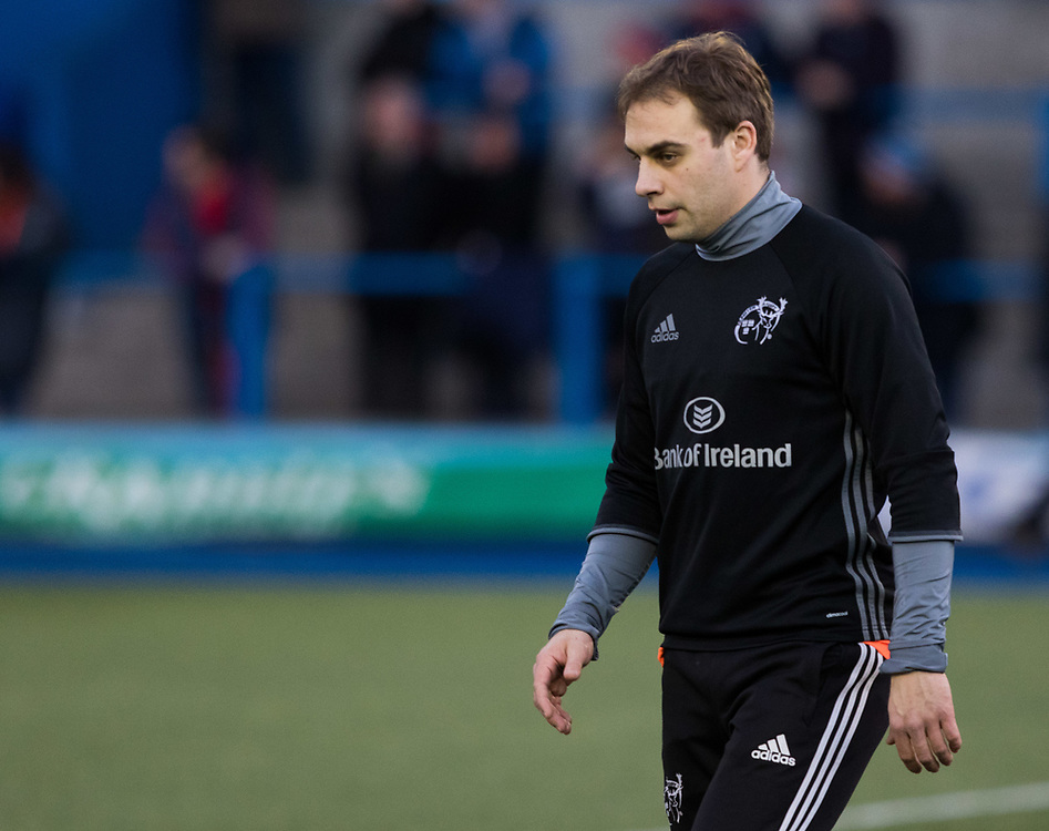 Munster's James Hart during the pre match warm up<br /> <br /> Photographer Simon King/Replay Images<br /> <br /> Guinness PRO14 Round 15 - Cardiff Blues v Munster - Saturday 17th February 2018 - Cardiff Arms Park - Cardiff<br /> <br /> World Copyright © Replay Images . All rights reserved. info@replayimages.co.uk - http://replayimages.co.uk