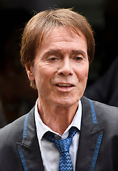 © Licensed to London News Pictures. 18/07/2018. London, UK. SIR CLIFF RICHARD arrives at the Rolls Building of the High Court in London where judges will deliver their decision on a claim by Sir Cliff Richard for damages against the BBC for loss of earnings. The 77-year-old singer is suing the corporation after his home in Sunningdale, Berkshire was raided following allegations of sexual assault made to Metropolitan Police. Photo credit: Ben Cawthra/LNP