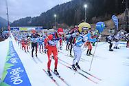 43° Marcialonga Fiemme e Fassa, sci da fondo gara a 70km a tecnica classica,31 gennaio 2016 © foto Daniele Mosna