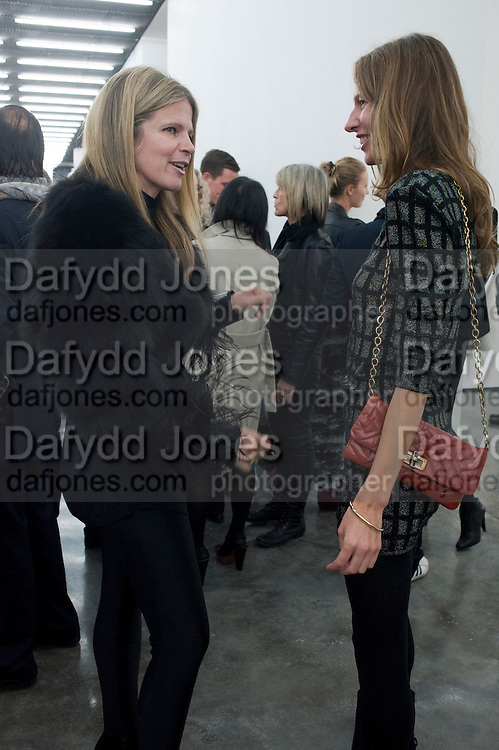 YVONNE FORCE VILLAREAL; JULIA CHAPLIN, Opening of new White Cube Gallery in Bermondsey. London. 11 October 2011. <br /> <br />  , -DO NOT ARCHIVE-&copy; Copyright Photograph by Dafydd Jones. 248 Clapham Rd. London SW9 0PZ. Tel 0207 820 0771. www.dafjones.com.
