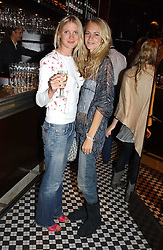 Left to right, MISS WILLOW CORBETT-WINDER and MISS POPPY DELEVINGNE at a party to celebrate the launch of Ladies' Day at The Vodafone Derby Festival held at Frankie's Bar & Grill, 3 Yeomans Row, London SW7 on 19th April 2005.<br /><br />NON EXCLUSIVE - WORLD RIGHTS