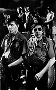 1986 Big Audio Dynamite Medicine Show Video Shoot. Strummer and Paul Simonon