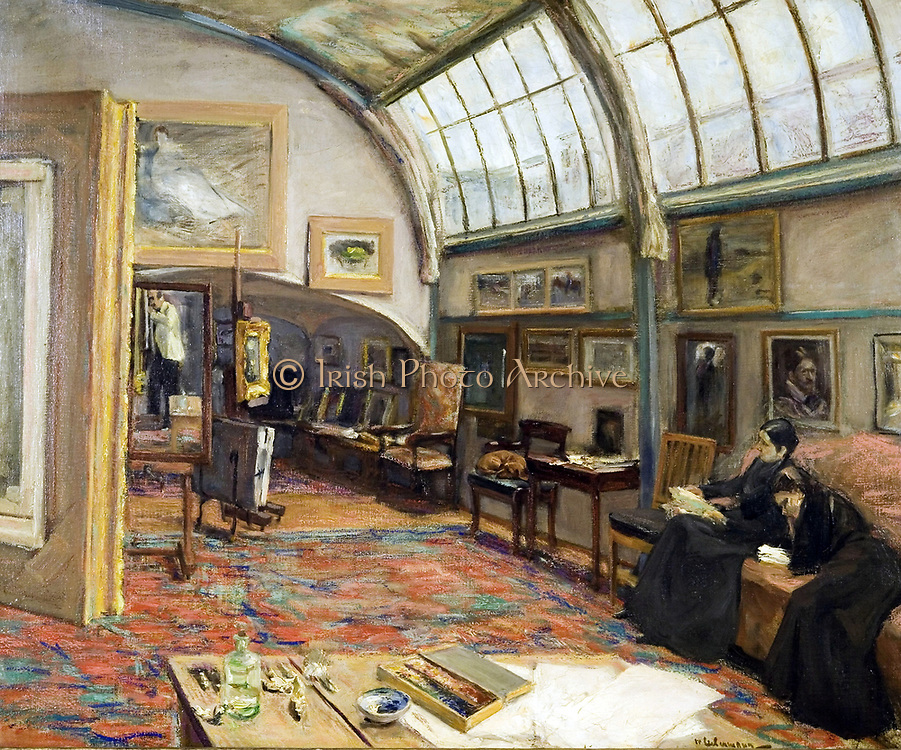 Max Liebermann (1847 – 1935) German-Jewish painter and printmaker. 'The artist's studio at the Brandenburg Gate in Berlin', 1902