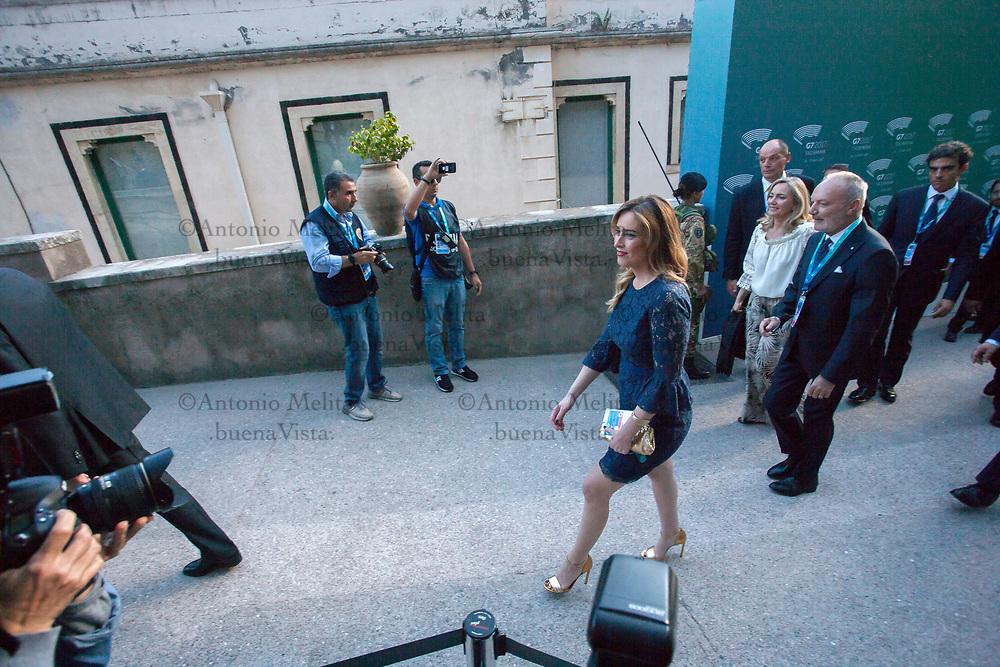 Maria Elena Boschi, Sottosegretaria di Stato alla Presidenza del Consiglio dei ministri a Taormina per il concerto al Teatro Greco.