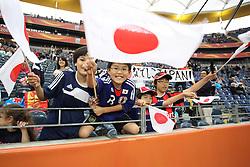 13.07.2011, Commerzbank Arena, Frankfurt, GER, FIFA Women Worldcup 2011, Halbfinale,  Japan (JPN) vs. Schweden (SWE), im Bild  Freudige Japanische Fans.. // during the FIFA Women´s Worldcup 2011, Semifinal, Japan vs Sweden on 2011/07/13, Commerzbank Arena, Frankfurt, Germany.   EXPA Pictures © 2011, PhotoCredit: EXPA/ nph/  Mueller       ****** out of GER / CRO  / BEL ******
