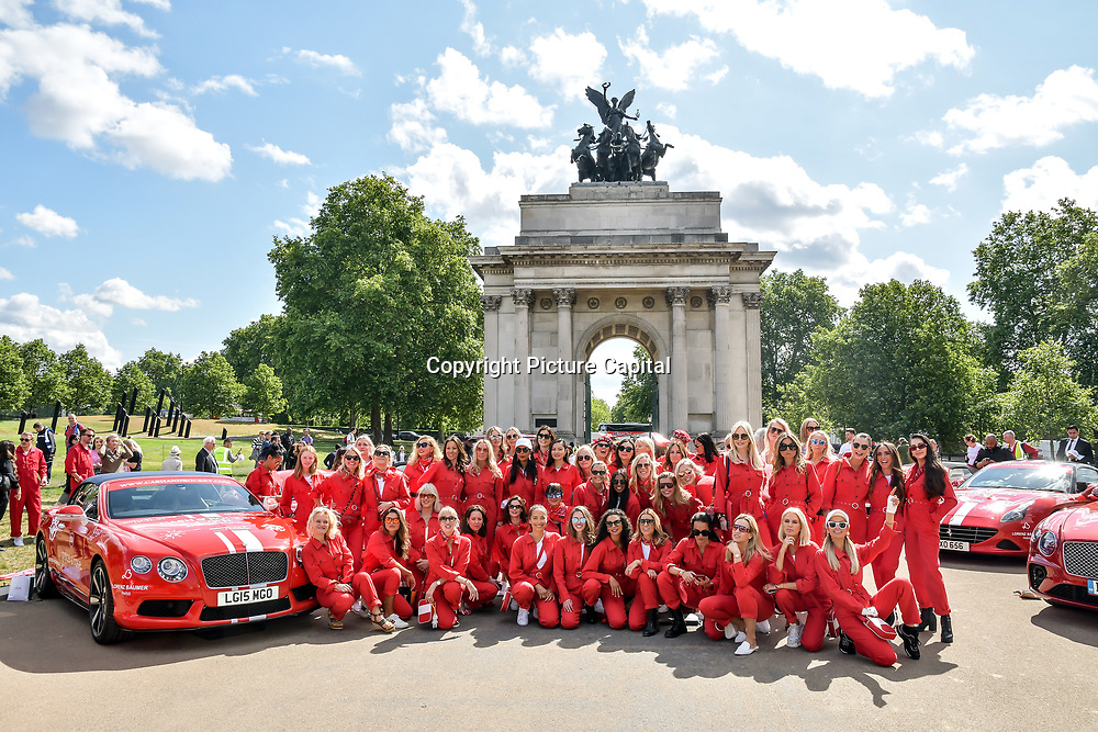 Celebs attend Cash & Rocket Photocall at Wellington Arch, on 6 June 2019, London, UK