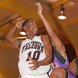 2008 November 13:  Zay Jackson (#10) during a 39-25 win by the Hammond Tornados over the St. Thomas Aquinas Falcons during the Independence prep basketball jamboree at the Independence High School Gym in Independence, LA.