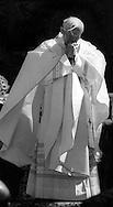 Loreto 11 Aprile 1985.Convegno della Chiesa italiana.Papa Giovanni Paolo II durante la Santa Messa