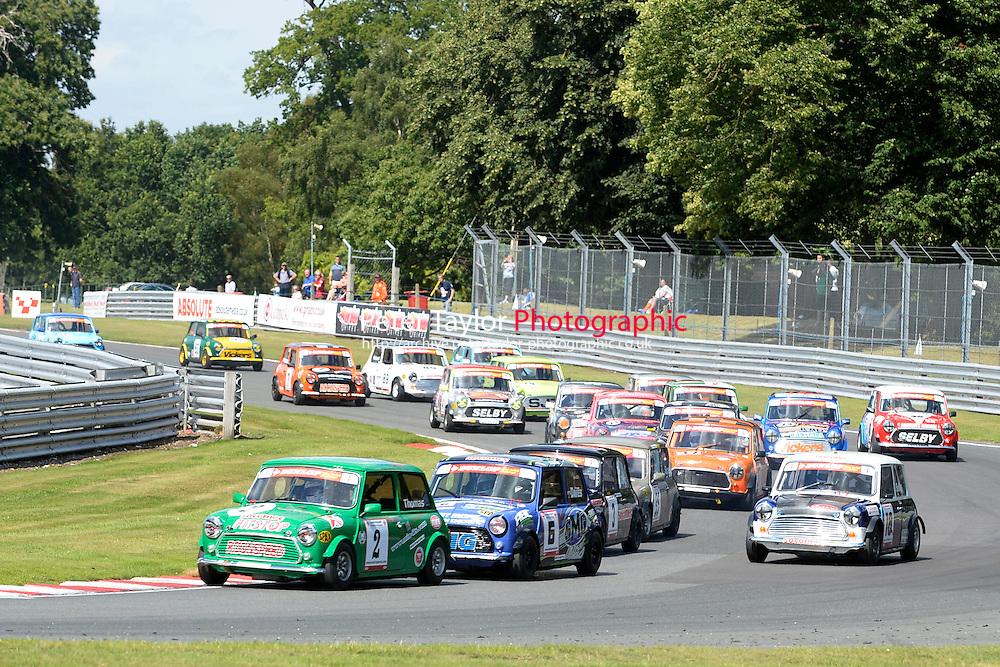 #2 Darren Thomas Mini 7 during Mini Se7en - Race 1  as part of the Mini Festival  at Oulton Park, Little Budworth, Cheshire, United Kingdom. August 08 2015. World Copyright Peter Taylor. Copy of publication required for printed pictures.  Every used picture is fee-liable. http://archive.petertaylor-photographic.co.uk