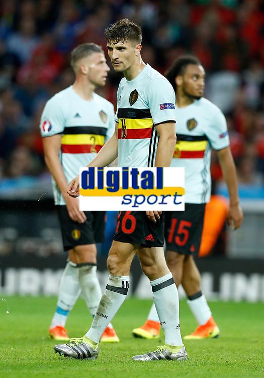 Thomas Meunier (Belgium) delusion. delusione<br /> Lille 01-07-2016 Stade Pierre Mauroy Football Euro2016 Wales - Belgium / Galles - Belgio <br /> Quarter-finals. Foto Matteo Ciambelli / Insidefoto