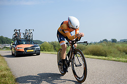 Amalie Dideriksen at Boels Rental Ladies Tour Prologue a 4.3 km individual time trial in Wageningen, Netherlands on August 29, 2017. (Photo by Sean Robinson/Velofocus)