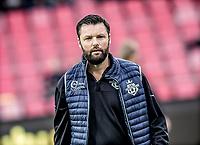 FODBOLD: Cheftræner Christian Lønstrup (FC Helsingør) under opvarmningen til kampen i ALKA Superligaen mellem AaB og FC Helsingør den 15. oktober 2017 på Aalborg Stadion. Foto: Claus Birch