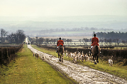 Sinnington Foxhounds, Ryedale, North Yorkshire, England, UK, 05/12/92.
