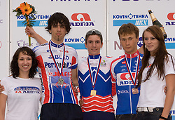 Mark Dzamastagic, Jan Polanc and Pavel Gorenc at Slovenian National Championships in Road cycling, 178 km, on June 28 2009, in Mirna Pec, Slovenia. (Photo by Vid Ponikvar / Sportida)
