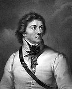 Thaddeus Kosciuskzko (1746-1817)  Polish  soldier and patriot. Engraving.