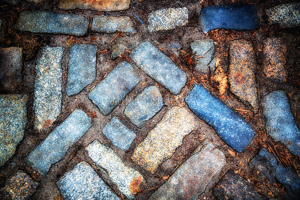 Colorful city cobllestones.