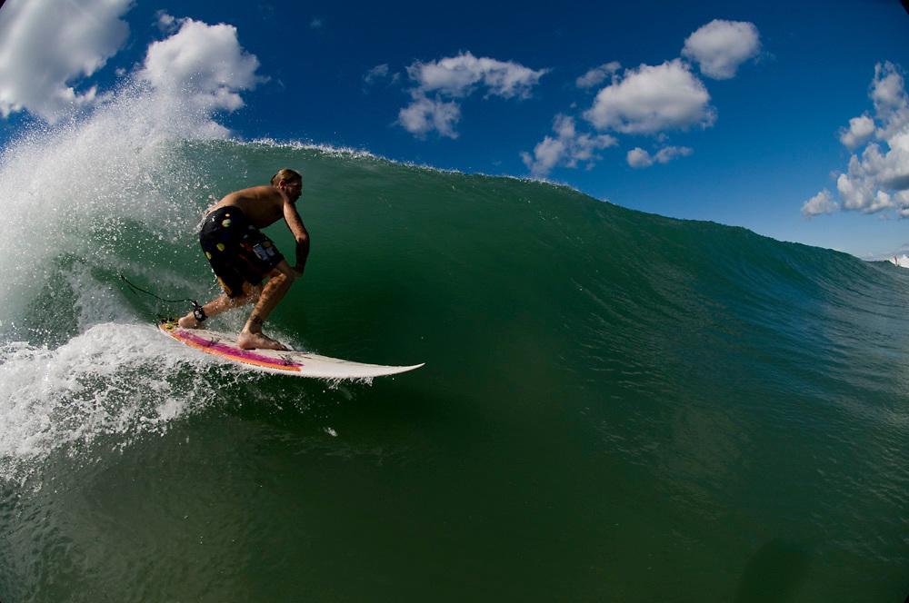 May 4 2011: Shane Morton surfs at Duranbah Beach on the NSW and QLD border.