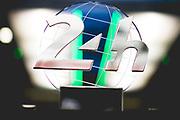 June 12-17, 2018: 24 hours of Le Mans. 8 Toyota Racing, Toyota TS050 Hybrid, Sebastien Buemi, Kazuki Nakajima, Fernando Alonso post race with dirt and Le Mans trophy