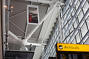 Roof architecture showing Torso Node engineering strength at Heathrow airport's terminal 5.