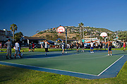 Basketball Courts at Main Beach in Laguna Beach California