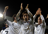 Photo: Jed Wee/Sportsbeat Images.<br /> Scotland v Italy. UEFA European Championships Qualifying. 17/11/2007.<br /> <br /> Italy's Andrea Pirlo (C) leads the applause to the Italian fans.