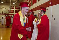 Laconia High School Graduation.  (Karen Bobotas/for the Laconia Daily Sun)