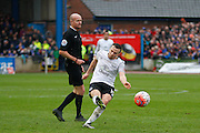 Everton midfielder Tom Cleverley hitting a shot during the The FA Cup fourth round match between Carlisle United and Everton at Brunton Park, Carlisle, England on 31 January 2016. Photo by Craig McAllister.