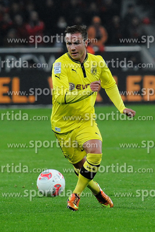 03.02.2013, BayArena, Leverkusen, GER, 1. FBL, Bayer 04 Leverkusen vs Borussia Dortmund, 20. Runde, im Bild Mario Goetze ( Borussia Dortmund/ Freisteller ) // during the German Bundesliga 20th round match between Bayer 04 Leverkusen and Borussia Dortmund at the BayArena, Leverkusen, Germany on 2013/02/03. EXPA Pictures © 2013, PhotoCredit: EXPA/ Eibner/ Thomas Thienel..***** ATTENTION - OUT OF GER *****