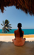 Yoga with a view - Girl at Jakes Spa - Treasure Beach Jamaica