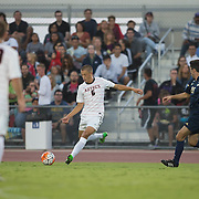02 September 2016: The #23 San Diego State men's soccer team hosted #1 Akron for their first home game of the season. The Aztecs beat the Zips 1-0 at the sports deck on the campus of San Diego State.