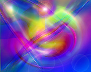 Galaxies of Light ~ Symphony of Light #71 ~ &copy; Laurel Smith ~ The flow of light and color expanding into the universe. ~ <br />