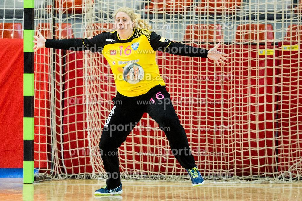 Misa Marincek of RK Krim during 2nd Leg handball match between RK Krim Mercator and HC Lada Togliatti (ROU) in Semifinal of Women Cup Winners' Cup 2015/16, on April 9, 2016 in Arena Kodeljevo, Ljubljana, Slovenia. Photo by Vid Ponikvar / Sportida