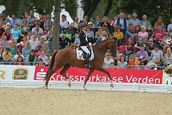 Langehanenberg, Helen, Damon´s Satelite<br /> Verden - Int. Dressur- und Springfestival<br /> Finale, Dressurpferde 5j.<br /> © www.sportfotos-lafrentz.de/ Stefan Lafrentz