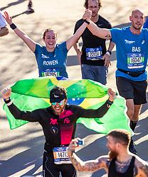 04-11-2018 USA: 2018 TCS NYC Marathon, New York<br /> Race day  TCS New York City Marathon / Rowen and Bas