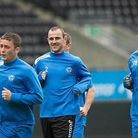 Rosenborg v St Johnstone....17.07.13  UEFA Europa League Qualifier.<br /> St Johnstone Captain Dave Mackay in the Lerkendal Stadium<br /> Picture by Graeme Hart.<br /> Copyright Perthshire Picture Agency<br /> Tel: 01738 623350  Mobile: 07990 594431