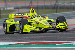 March 23, 2019 - Austin, Texas, U.S - Team Penske driver Simon Pagenaud (22) of France in action during the practice round at the Circuit of the Americas racetrack in Austin,Texas. (Credit Image: © Dan Wozniak/ZUMA Wire)