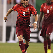 João Moutinho, Portugal, in action during the Portugal V Ireland International Friendly match in preparation for the 2014 FIFA World Cup in Brazil. MetLife Stadium, Rutherford, New Jersey, USA. 10th June 2014. Photo Tim Clayton