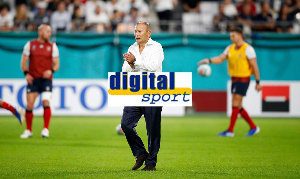 Rugby Union - 2019 Rugby World Cup - Pool C: England vs. USA<br /> <br /> Eddie Jones head coach of England  at the Kobe City Misaki Park Stadium.<br /> <br /> COLORSPORT/LYNNE CAMERON