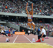 GB long jumper Morgan Lake during the Sainsbury's Anniversary Games at the Queen Elizabeth II Olympic Park, London, United Kingdom on 25 July 2015. Photo by Mark Davies.