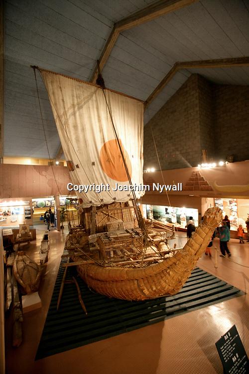 Oslo Norge 2006 07<br /> Kon Tiki museet i Oslo<br /> B&aring;ten Ra<br /> <br /> <br /> ----<br /> FOTO : JOACHIM NYWALL KOD 0708840825_1<br /> COPYRIGHT JOACHIM NYWALL<br /> <br /> ***BETALBILD***<br /> Redovisas till <br /> NYWALL MEDIA AB<br /> Strandgatan 30<br /> 461 31 Trollh&auml;ttan<br /> Prislista enl BLF , om inget annat avtalas.