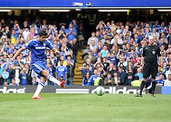 Chelsea's Diego Costa scores a penalty. - Photo mandatory by-line: Alex James/JMP - Mobile: 07966 386802 - 24/05/2015 - SPORT - Football - London - Stamford Bridge - Chelsea v Sunderland - Barclays Premier League