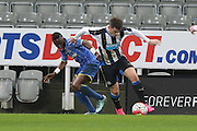 David Omperon of AFC Wimbledon during the FA Youth Cup match between Newcastle United and AFC Wimbledon at St. James's Park, Newcastle, England on 6 January 2016. Photo by Stuart Butcher.