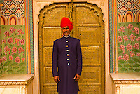 Palace Guard, City Palace, Jaipur, Rajasthan, India