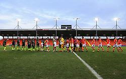 Blackpool and Bristol Rovers players shake hands before kick off - Mandatory by-line: Matt McNulty/JMP - 13/01/2018 - FOOTBALL - Bloomfield Road - Blackpool, England - Blackpool v Bristol Rovers - Sky Bet League One