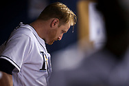 September 16, 2017 - St. Petersburg, Florida, U.S. - WILL VRAGOVIC   |   Times.Tampa Bay Rays starting pitcher Alex Cobb (53) in the dugout during the game between the Boston Red Sox and the Tampa Bay Rays at Tropicana Field in St. Petersburg, Fla. on Saturday, Sept. 16, 2017. (Credit Image: © Will Vragovic/Tampa Bay Times via ZUMA Wire)