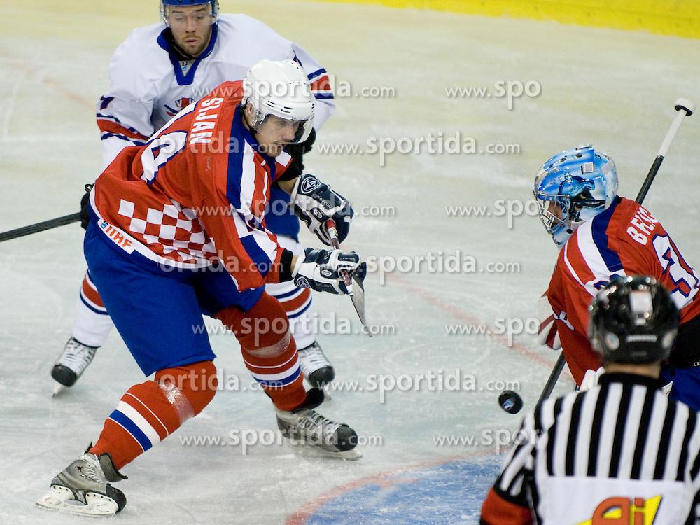 Ivan Sijan of Croatia at IIHF Ice-hockey World Championships Division I Group B match between National teams of Croatia and Great Britain, on April 17, 2010, in Tivoli hall, Ljubljana, Slovenia. Great Britain defeated Croatia xx-xx. (Photo by Matic Klansek Velej / Sportida)