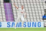 Sam Cook of Essex appeals unsucessfully for the wicket of Joe Weatherley of Hampshire during the first day of the Specsavers County Champ Div 1 match between Hampshire County Cricket Club and Essex County Cricket Club at the Ageas Bowl, Southampton, United Kingdom on 5 April 2019.