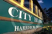 Harrisburg, PA, City Island, Trolley Waiting