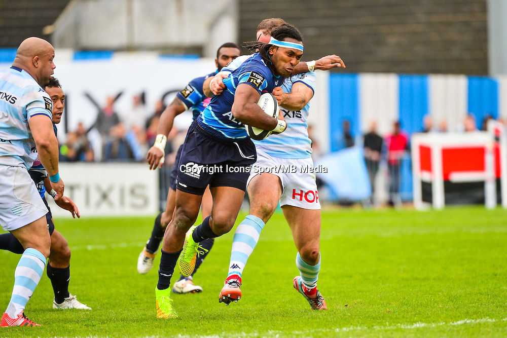 Albert VULIVULI / Jamie ROBERTS  - 11.04.2015 - Racing Metro / Montpellier  - 22eme journee de Top 14 <br />